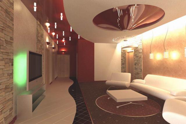 Натяжной потолок для гостиницы