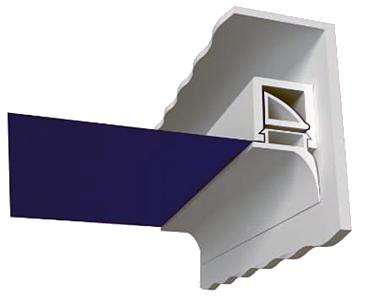 штапиковый метод крепления натяжного потолка