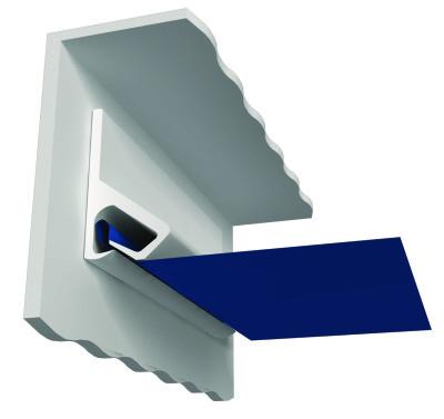Клипсовый крепеж натяжного потолка