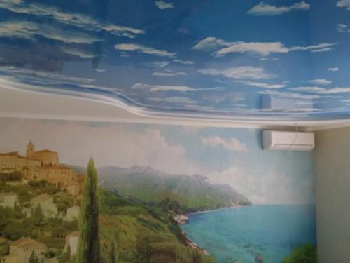 Натяжной потолок с рисунком или без: что выбрать